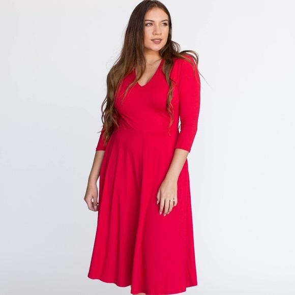 Agnes & Dora Dresses & Skirts - Agnes & Dora Curie Dress Red baby suede Small
